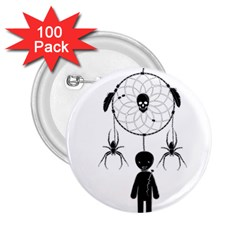 Voodoo Dream Catcher  2 25  Buttons (100 Pack)