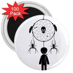 Voodoo Dream Catcher  3  Magnets (100 Pack)