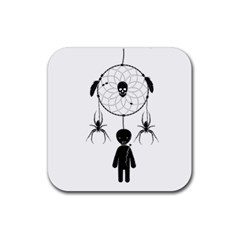 Voodoo Dream Catcher  Rubber Coaster (square)