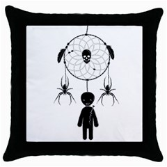 Voodoo Dream Catcher  Throw Pillow Case (black)