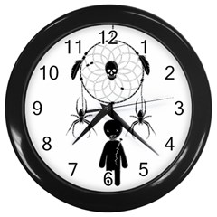 Voodoo Dream Catcher  Wall Clocks (black)