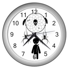 Voodoo Dream Catcher  Wall Clocks (silver)