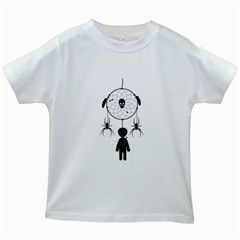 Voodoo Dream Catcher  Kids White T Shirts