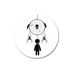 Voodoo Dream Catcher  Magnet 3  (round)