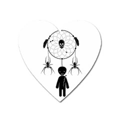 Voodoo Dream Catcher  Heart Magnet