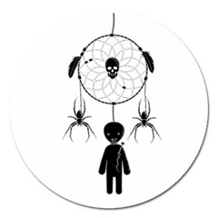 Voodoo Dream Catcher  Magnet 5  (round)