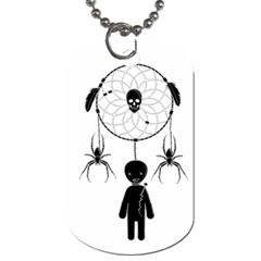 Voodoo Dream Catcher  Dog Tag (two Sides)
