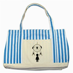 Voodoo Dream Catcher  Striped Blue Tote Bag
