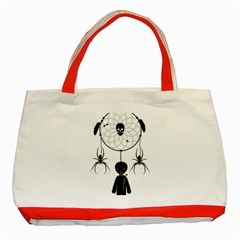 Voodoo Dream Catcher  Classic Tote Bag (red)