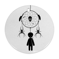 Voodoo Dream Catcher  Round Ornament (two Sides)
