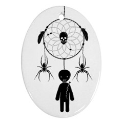 Voodoo Dream Catcher  Oval Ornament (two Sides)