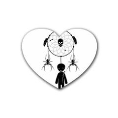 Voodoo Dream Catcher  Heart Coaster (4 Pack)
