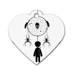 Voodoo Dream Catcher  Dog Tag Heart (one Side)