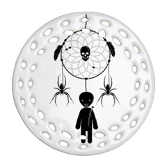 Voodoo Dream Catcher  Round Filigree Ornament (two Sides)