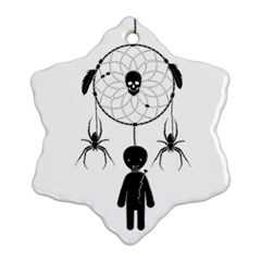 Voodoo Dream Catcher  Snowflake Ornament (two Sides)