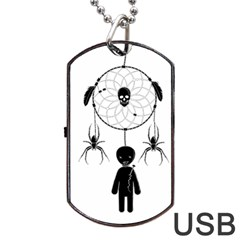 Voodoo Dream Catcher  Dog Tag Usb Flash (one Side)