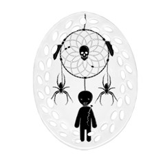 Voodoo Dream Catcher  Oval Filigree Ornament (two Sides)