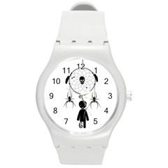 Voodoo Dream Catcher  Round Plastic Sport Watch (m)
