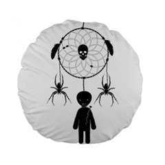 Voodoo Dream Catcher  Standard 15  Premium Round Cushions