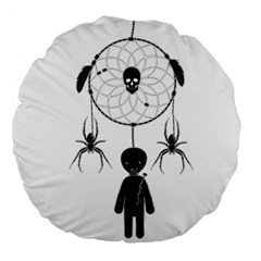 Voodoo Dream Catcher  Large 18  Premium Round Cushions