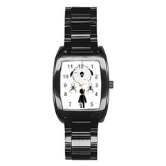 Voodoo Dream Catcher  Stainless Steel Barrel Watch