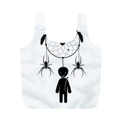 Voodoo Dream Catcher  Full Print Recycle Bags (m)