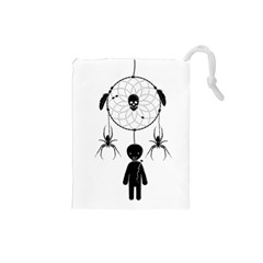 Voodoo Dream Catcher  Drawstring Pouches (small)