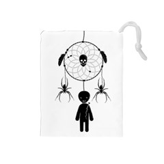 Voodoo Dream Catcher  Drawstring Pouches (medium)
