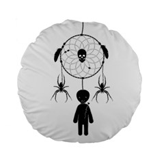 Voodoo Dream Catcher  Standard 15  Premium Flano Round Cushions