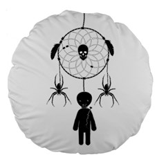 Voodoo Dream Catcher  Large 18  Premium Flano Round Cushions