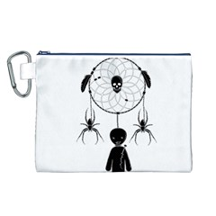 Voodoo Dream Catcher  Canvas Cosmetic Bag (l)