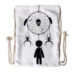 Voodoo Dream Catcher  Drawstring Bag (large)