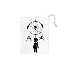 Voodoo Dream Catcher  Drawstring Pouches (xs)