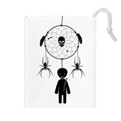 Voodoo Dream Catcher  Drawstring Pouches (extra Large)