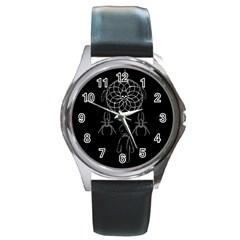 Voodoo Dream Catcher  Round Metal Watch