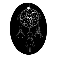 Voodoo Dream Catcher  Ornament (oval)