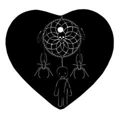 Voodoo Dream Catcher  Ornament (heart)