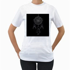 Voodoo Dream Catcher  Women s T Shirt (white) (two Sided)