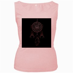 Voodoo Dream Catcher  Women s Pink Tank Top