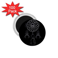 Voodoo Dream Catcher  1 75  Magnets (100 Pack)