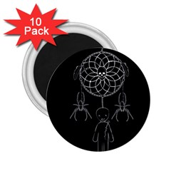 Voodoo Dream Catcher  2 25  Magnets (10 Pack)
