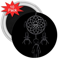 Voodoo Dream Catcher  3  Magnets (10 Pack)