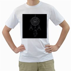 Voodoo Dream Catcher  Men s T Shirt (white) (two Sided)