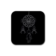 Voodoo Dream Catcher  Rubber Square Coaster (4 Pack)