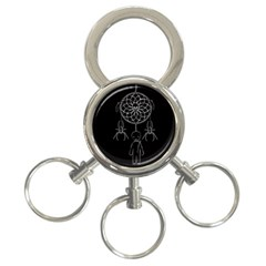 Voodoo Dream Catcher  3 Ring Key Chains