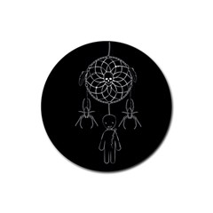 Voodoo Dream Catcher  Rubber Round Coaster (4 Pack)