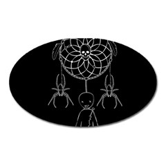Voodoo Dream Catcher  Oval Magnet