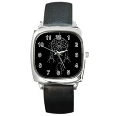 Voodoo Dream Catcher  Square Metal Watch