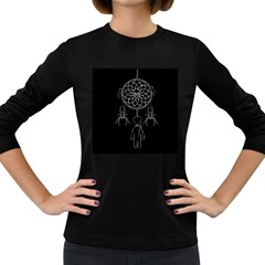 Voodoo Dream Catcher  Women s Long Sleeve Dark T Shirts