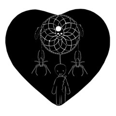 Voodoo Dream Catcher  Heart Ornament (two Sides)